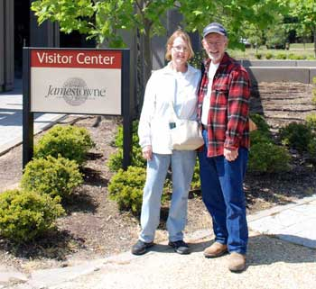 Jane and John at the visitor center