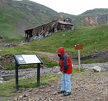 Sound Democrat Mine - the stamping mill in the background