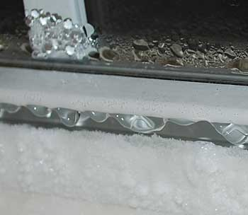 Ice on the inside of our metal framed windows