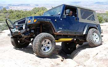 Great axle articulation after our many modifications