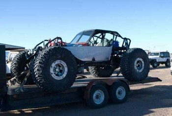 "Rock crawling buggy on 54"" tires"