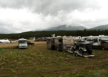 Just parked in Leadville, Colorado for the All-4-Fun off-road event.