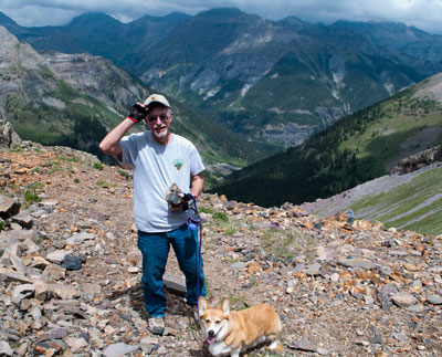 John and Sassy in the San Juan mountains