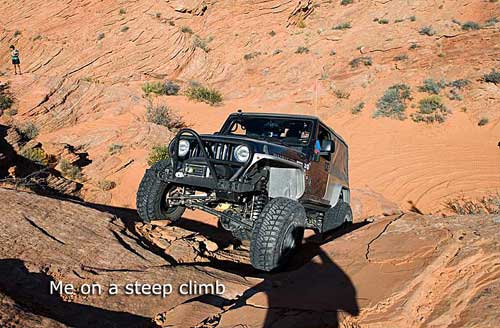 Rock crawling in St George, Utah
