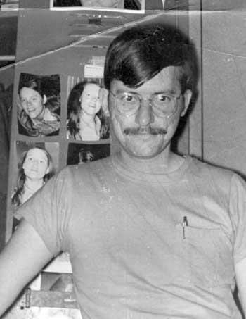 John in Vietnam - standing in front of my locker